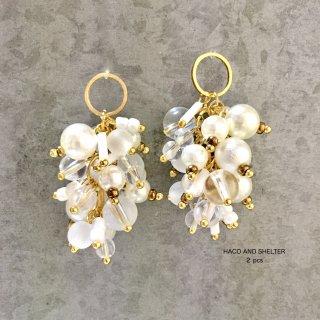 2pcs★delicious grape・ pearl