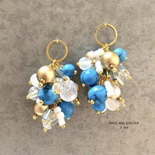 2pcs★delicious grape・ turquoise