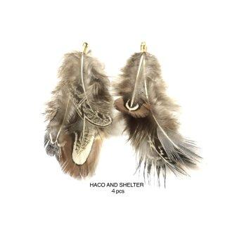 4pcs★camel volume feather