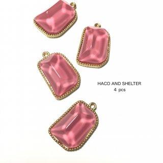 4pcs★clear jelly charm・flamingo