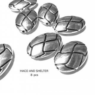 8pcs★silver mesh beads