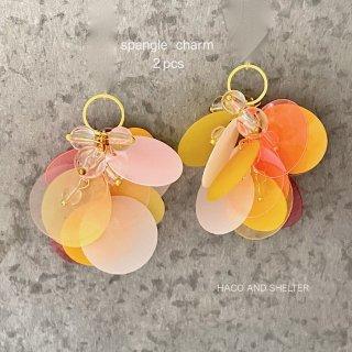 2pcs★fruit punch charm・peach pine