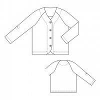 one sleeve pocketカーディガン / 型紙