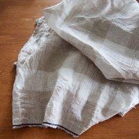 big check linen