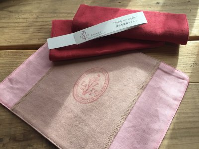 """<img class='new_mark_img1' src='https://img.shop-pro.jp/img/new/icons21.gif' style='border:none;display:inline;margin:0px;padding:0px;width:auto;' />""""homely rose napkin""""素朴な薔薇ナプキン"""