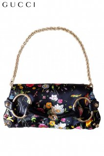 小■レンタルバッグ■Product code:02030 | GUCCI Flora Collection Silk/Lizard Floral print Party bag(グッチ バッグ)