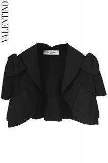7号(5〜9号)【レンタルドレス】Product code:00015 | VALENTINO Shoulders Ribbon Black Bolero(ヴァレンティノ ボレロ)