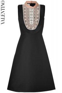 7号【レンタルドレス】PRD CODE:00107 | VALENTINO Mock Neck Bead Embroidered Dress(ヴァレンティノ ドレス)