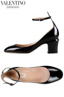 24.0cm【レンタルシューズ】PRD CODE:00111 | VALENTINO GARAVANI Tango Black Patent Leather Shoes(ヴァレンティノ シューズ)