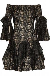 7号■レンタルドレス■Product code:01020 | ALEXANDER McQUEEN Lace off-shoulder dress(アレキサンダーマックイーン オフショルダードレス)