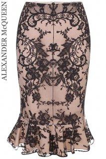 7号(5〜7号)【レンタルドレス】Product code:01024 | ALEXANDER McQUEEN Floral Lace Skirt(アレキサンダー・マックイーン スカート)