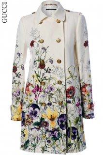 7,9号【レンタルドレス】Product code:02028 | GUCCI × JOJO 『徐倫、GUCCIで飛ぶ』Flora Linen Trench Coat 2013(グッチ コート)