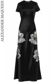 9号【レンタルドレス】Product code:01064 | ALEXANDER McQUEEN Tulip Embroidered Gown(アレキサンダー・マックイーン ロングドレス)