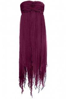 7〜9号■レンタルドレス■Product code:01059 | ALEXANDER McQUEEN Burgundy Chiffon Dress(アレキサンダー・マックイーン ドレス)