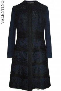 9号【レンタルドレス】Product code:00040 | VALENTINO 2012 Navy Lace Coat Dress(ヴァレンティノ レース コートドレス)