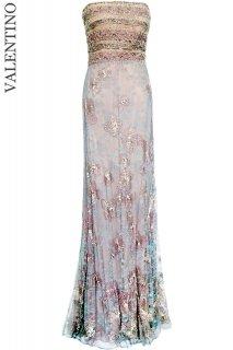 7号【レンタルドレス】Product code:00115 | VALENTINO Resort 2012 Lace & Beads Embroidered Gown(ヴァレンティノ ロングドレス)