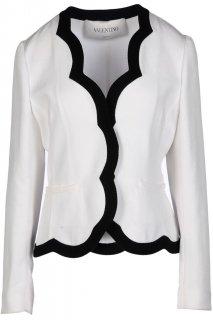 7号■レンタルドレス■Product code:00103| VALENTINO Black Trim Scallop White Jacket(ヴァレンティノ ジャケット)