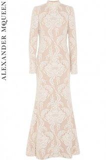 7号【レンタルウェディングドレス】Product code:01070 | ALEXANDER McQUEEN Dentelles de Lyon Lace Swiss-Dot Tulle Gown