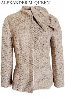 11号【レンタルドレス】Product code:01034 | ALEXANDER McQUEEN Runway Tweed Jacket(アレキサンダー・マックイーン ジャケット)