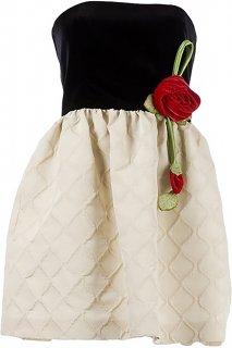 7号■レンタルドレス■Product code:00121 | RED VALENTINO Rose corsage Strapless Dress(レッド ヴァレンティノ ローズコサージュ付ドレス)
