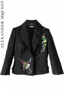 7号【レンタルドレス】PRD CODE:01028 | ALEXANDER McQUEEN Hummingbird Silk Jacquard Jacket(アレキサンダー・マックイーン ジャケット)