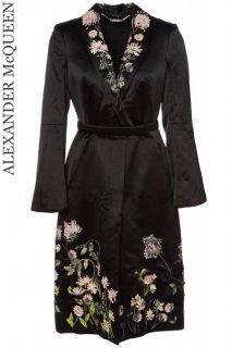 9号【レンタルドレス】Product code:01072 | ALEXANDER McQUEEN Silk Embroidery Coat Dress(アレキサンダー・マックイーン シルク コート)