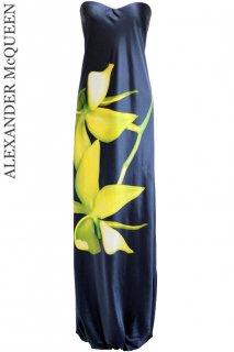 7号【レンタルドレス】Product code:01044 | ALEXANDER McQUEEN Flower Printed Gown(アレキサンダー・マックイーン ドレス)