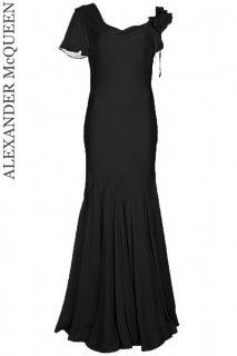 7号【レンタルドレス】Product code:01075 | ALEXANDER McQUEEN Black Sarabande Gown(アレキサンダー・マックイーン ロングドレス)