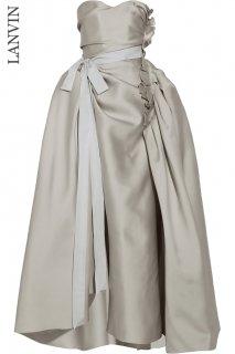 9号(7〜サイズ直し可)【レンタルドレス】Product code:17018 | LANVIN Satin Duchess Wedding Dress (ランバン ウェディングドレス)