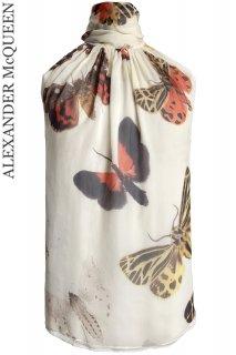 7号【レンタルドレス】Product code:01071 | ALEXANDER McQUEEN Butterfly Silk Top with Scarf(アレキサンダー・マックイーン トップ)