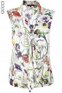 5-7号【レンタルドレス】Product code:02032 | GUCCI Flora Silk Blouse with Bow Tie(グッチ フローラ トップ)