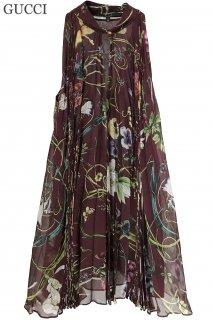 7号【レンタルドレス】Product code:02031 | GUCCI Flora Pleated Silk Top(グッチ フローラ プリーツ トップ)