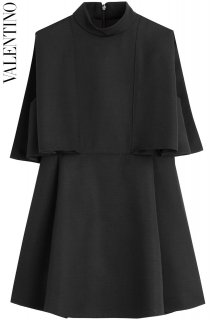 7号【レンタルドレス】Product code:00123 | VALENTINO Layered Black Wool Top(ヴァレンティノ チュニック)