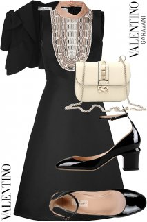 9号(7〜9号)【レンタルドレスセット】Product code:00107-set | VALENTINO 2012 Runway dress(ヴァレンティノ ドレス セット)