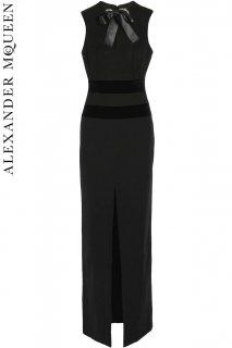 7号【レンタルドレス】PRD CODE:01079 | ALEXANDER McQUEEN Black Embellished Bow Evening Gown(アレキサンダー・マックイーン ドレス)