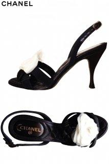 23.5cm【レンタルシューズ】PRD CODE:10003 | CHANEL Camellia Accent Shoes(シャネル シューズ)