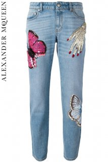 7号【レンタルドレス】PRD CODE:01076 | ALEXANDER McQUEEN Big Obsession Straight Jeans(アレキサンダー・マックイーン パンツ)