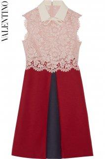 7号【レンタルドレス】PRD CODE:00125 | VALENTINO Lace Top Silk Blend Wool Mini Dress (ヴァレンティノ ドレス)