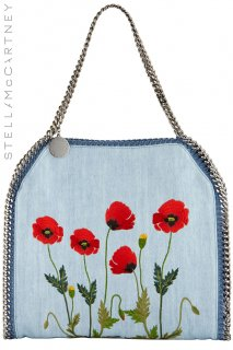【レンタルバッグ】Product code:16002 | STELLA McCARTNEY Falabella Denim Botanical Tote(ステラ・マッカートニー バッグ)