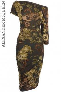 7号(7〜9号)【レンタルドレス】Product code:01014 | ALEXANDER McQUEEN Rose Printed Dress(アレキサンダーマックイーン ドレス)
