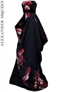 7号【レンタルドレス】PRD CODE:01080 | ALEXANDER McQUEEN Tulip Jacquard KIMONO Gown w/ Belt(アレキサンダーマックイーン ドレス)