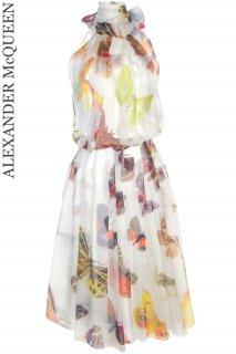 7-9号【レンタルドレス】Product code:01006 | ALEXANDER McQUEEN Butterfly Print Silk Dress(アレキサンダー・マックイーン ドレス)