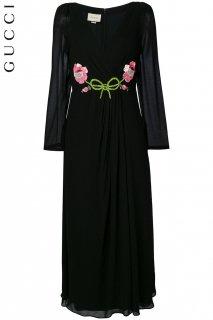 7-9号【レンタルドレス】Product code:02035 | GUCCI 2017 Floral Embroidered Maxi Dress(グッチ アレッサンドロ・ミケーレ ドレス)