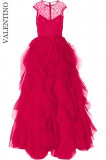 7-9号【レンタルドレス】Product code:00130 | VALENTINO 2012 Lace Organza Gown(ヴァレンティノ ロングドレス/ウェディングカラードレス)