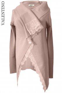 9号【レンタルドレス】Product code:00057 | VALENTINO 2012 Lace wool knit bolero cardigan(ヴァレンティノ ボレロ カーディガン)
