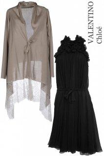 【レンタルドレスセット】Product code:06010-set | Chloé / VALENTINO(ドレス / カーディガンセット)