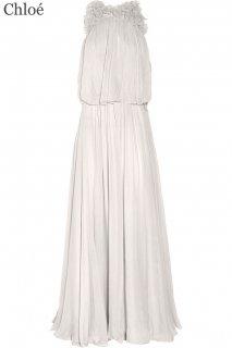 13号(7〜13号サイズ直し可)【レンタルドレス】Product code:06012 | Chloé Flower Appliqued Silk Gown(クロエ ウェディングドレス)