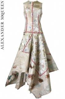 7号【レンタルドレス】PRD CODE:01093 | ALEXANDER McQUEEN KIMONO Patchwork Jacquard Dress(アレキサンダー・マックイーン ドレス)