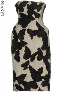 5-7号【レンタルドレス】Product code:17021 | LANVIN Butterfly Jacquard Strapless Dress(ランバン ドレス)