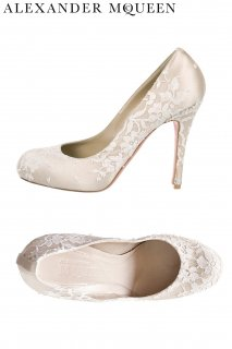 24.5cm【レンタルシューズ】Product code:01090 | ALEXANDER McQUEEN Ivory Lace Shoes(アレキサンダー・マックイーン シューズ)
